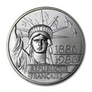 1986 France Silver 100 Francs Piedfort Statue of Liberty BU