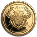 1986 Great Britain Proof Gold £2 Commonwealth Games