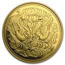 1986 Japan Gold 100K Yen 60 Years of Reign Emperor Hirohito BU
