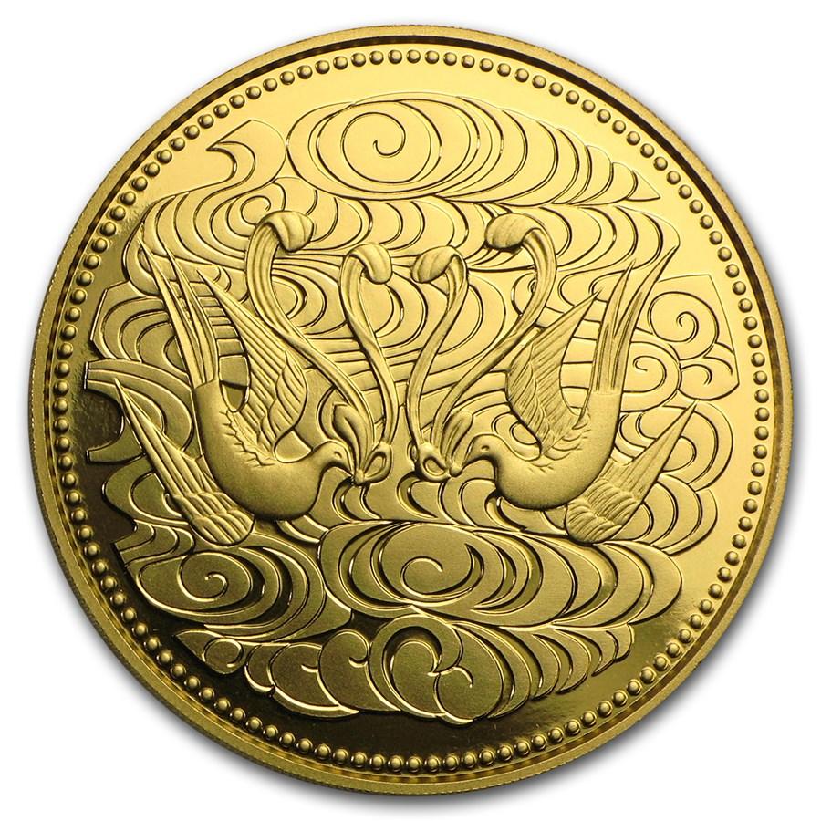 1986 Japan Gold 100K Yen 60 Years of Reign Emperor Hirohito BU
