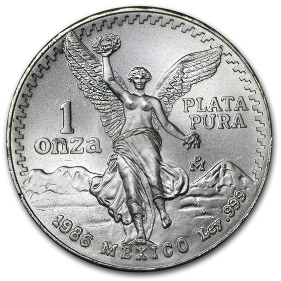1986 Mexico 1 oz Silver Libertad BU