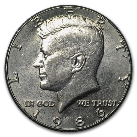 1986-P Kennedy Half Dollar BU