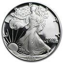 1986-S 1 oz Proof American Silver Eagle (w/Box & COA)