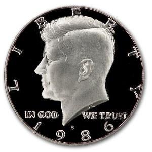 1986-S Kennedy Half Dollar Gem Proof