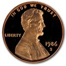 1986-S Lincoln Cent Gem Proof (Red)
