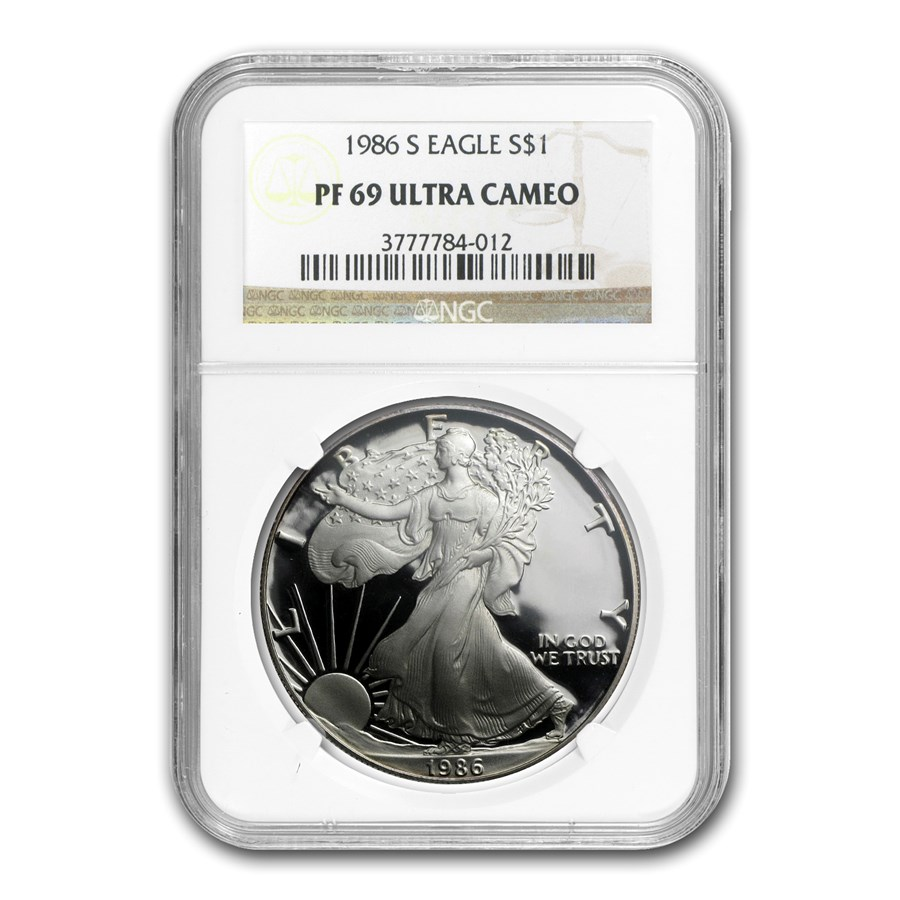 1986-S Proof American Silver Eagle PF-69 NGC