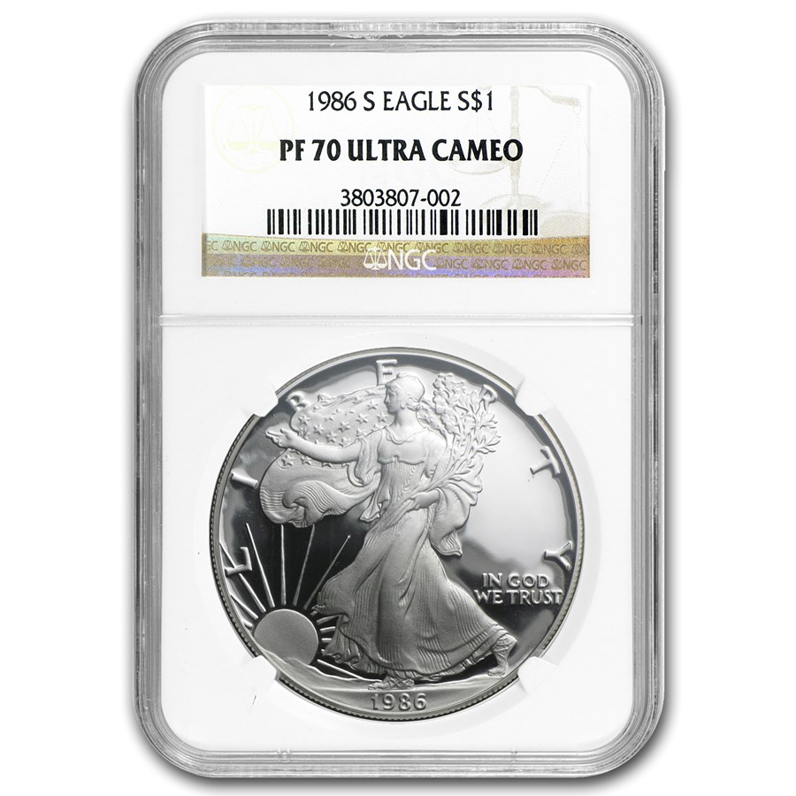 1986-S Proof American Silver Eagle PF-70 NGC