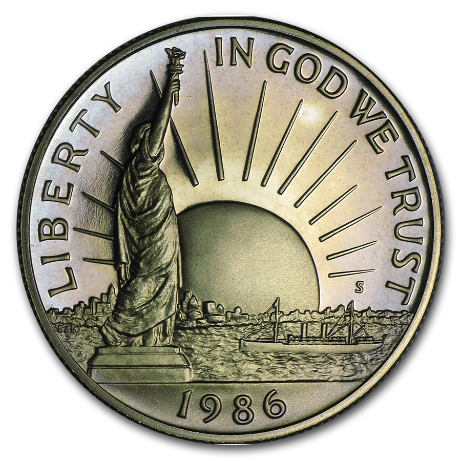 1986-S Statue of Liberty 1/2 Dollar Clad Commem Prf (CapsuleOnly)