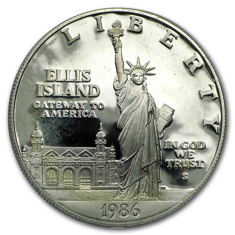 1986-S Statue of Liberty $1 Silver Commem Proof (Capsule Only)