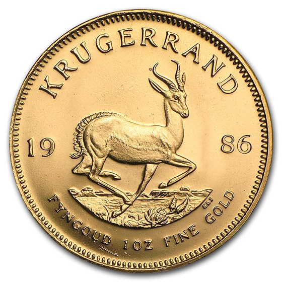 1986 South Africa 1 oz Gold Krugerrand BU