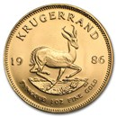 1986 South Africa 1 oz Gold Krugerrand