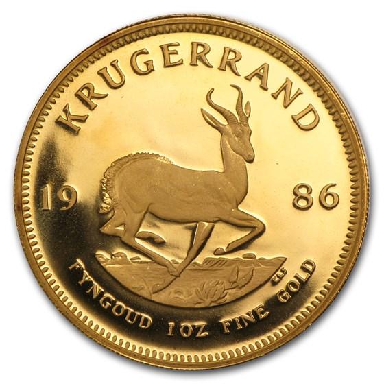 1986 South Africa 1 oz Proof Gold Krugerrand