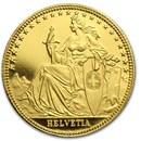 1986 Switzerland 1/10 Unze Gold Eternal Pact Proof