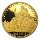 1986 Switzerland 1 Unze Gold Eternal Pact Proof