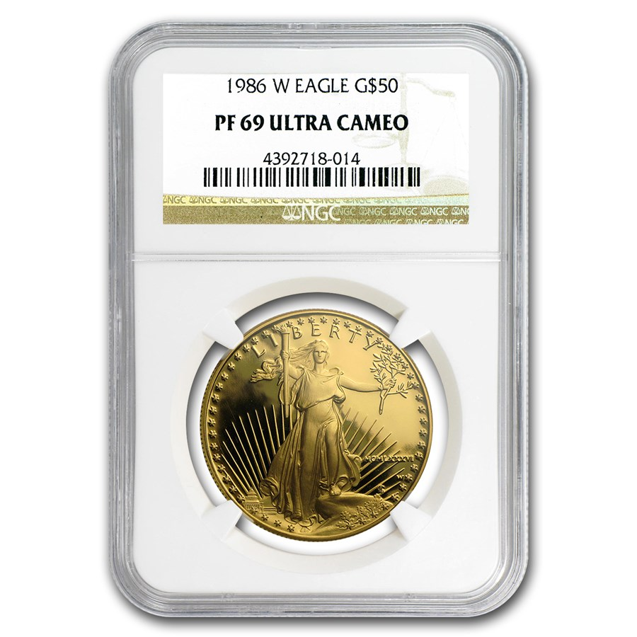 1986-W 1 oz Proof American Gold Eagle PF-69 UCAM NGC
