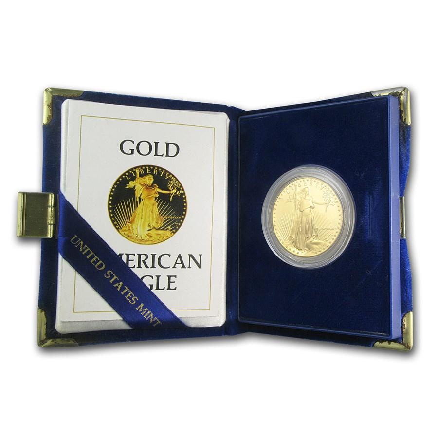 1986-W 1 oz Proof American Gold Eagle (w/Box & COA)
