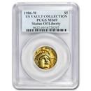 1986-W Gold $5 Commem Statue of Liberty MS-69 PCGS