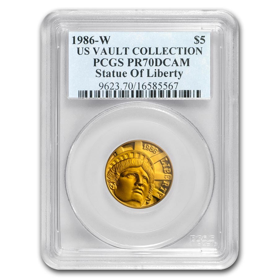 1986-W Gold $5 Commem Statue of Liberty PR-70 PCGS