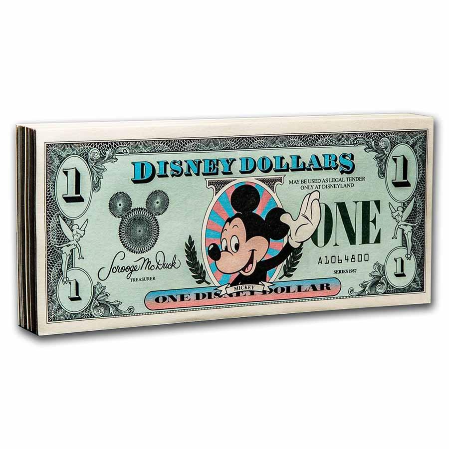 1987 $1.00 Disney Classic Mickey Gem CCU (100 Consecutive Pack)