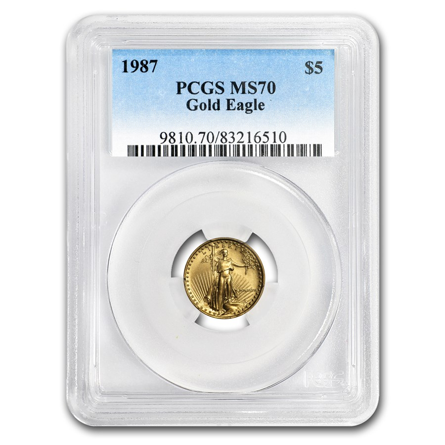 1987 1/10 oz American Gold Eagle MS-70 PCGS