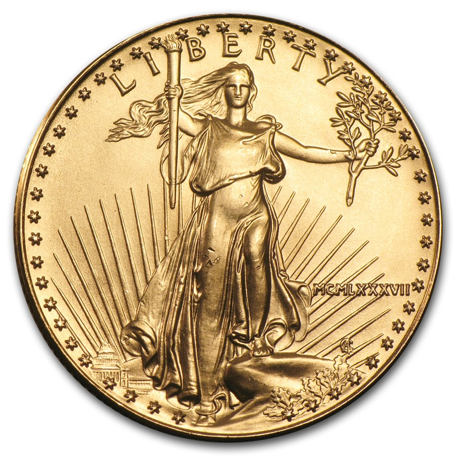 1987 1/2 oz American Gold Eagle BU (MCMLXXXVII)