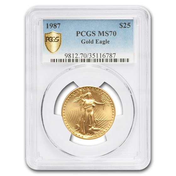 1987 1/2 oz American Gold Eagle MS-70 PCGS