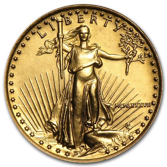 1987 1/4 oz American Gold Eagle BU (MCMLXXXVII)