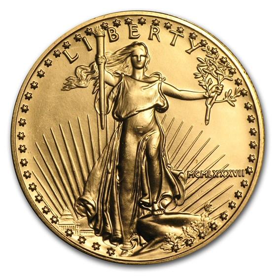 1987 1 oz American Gold Eagle BU (MCMLXXXVII)