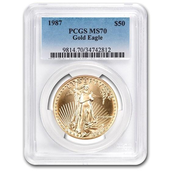 1987 1 oz American Gold Eagle MS-70 PCGS