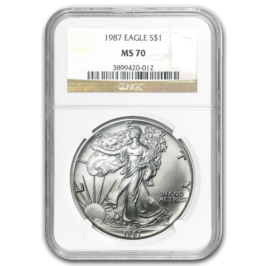 1987 American Silver Eagle MS-70 NGC