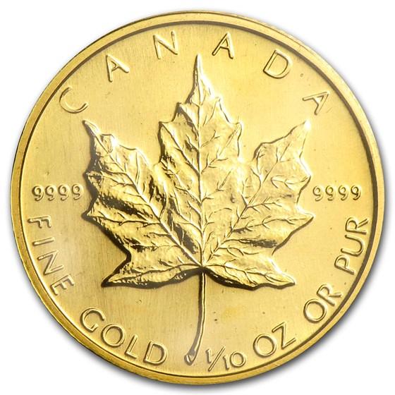 1987 Canada 1/10 oz Gold Maple Leaf BU