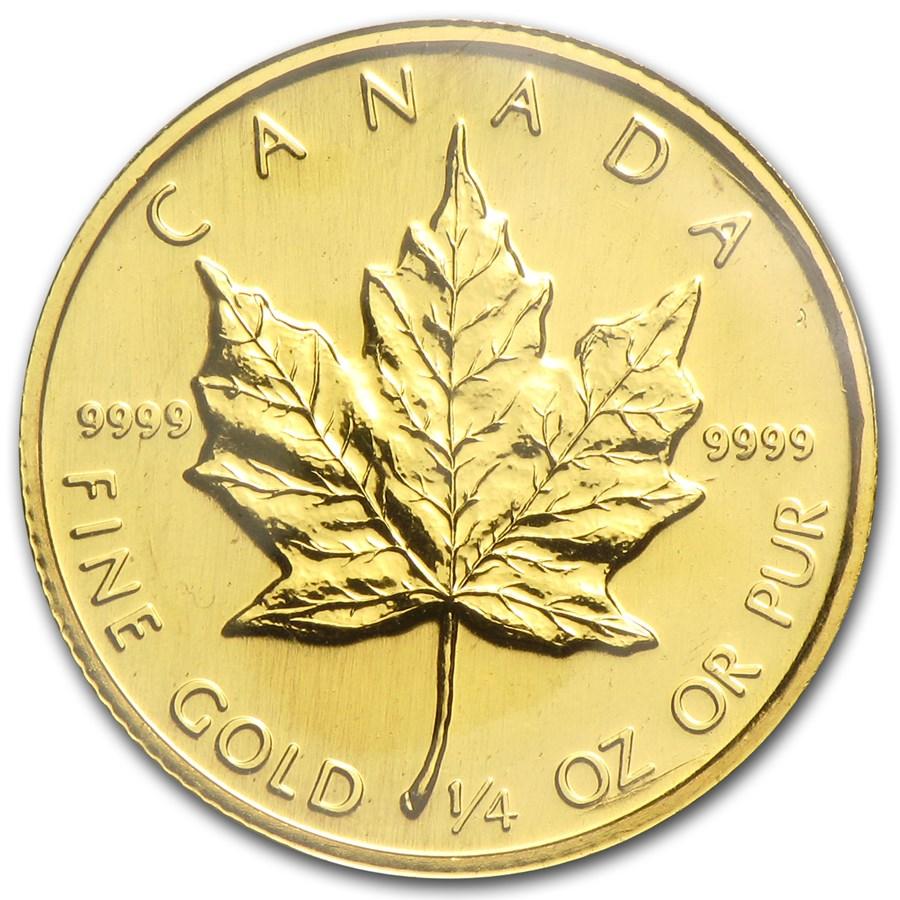 1987 Canada 1/4 oz Gold Maple Leaf BU
