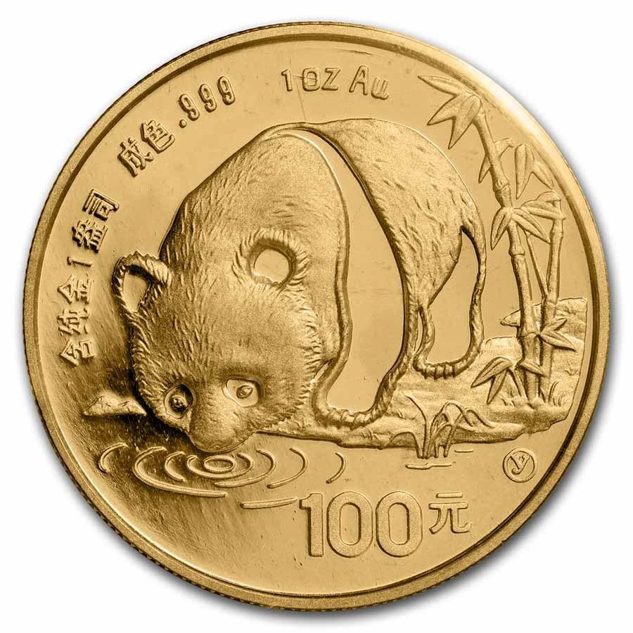 1987 China 1 oz Gold Panda Proof (Sealed)