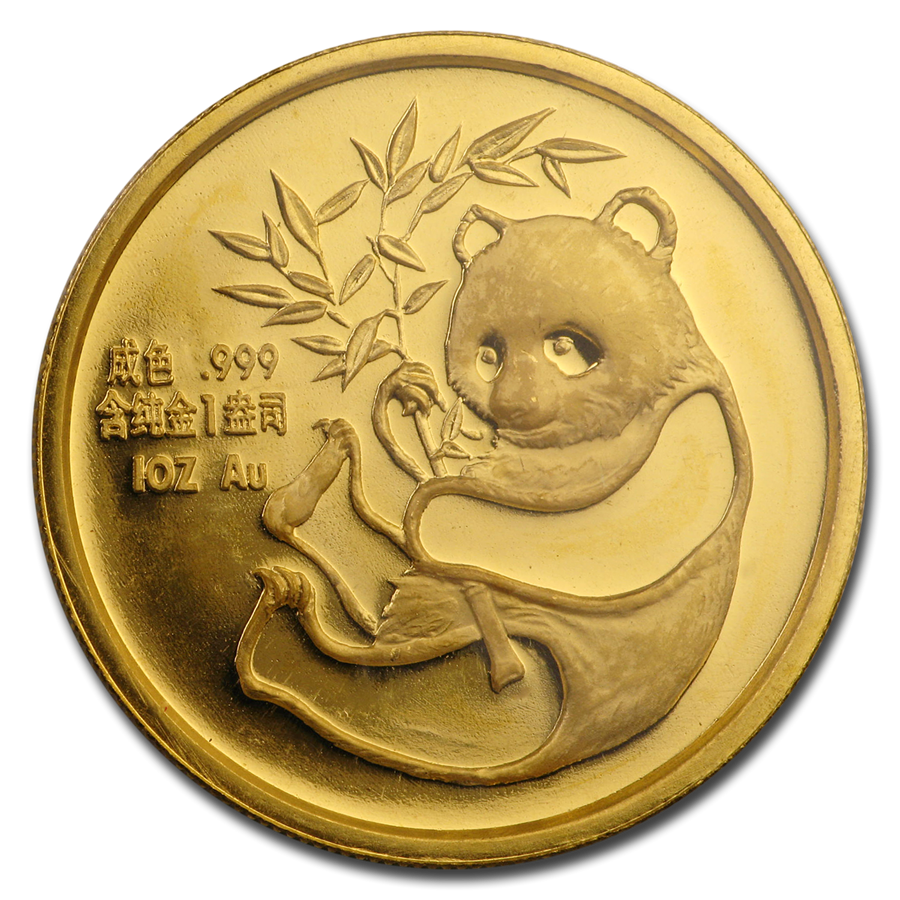 1987 China 1 oz Gold Panda (San Francisco Coin Expo, Sealed)