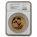 1987 China 12 oz Gold Panda 1000 Yuan PF-69* Ultra Cameo NGC