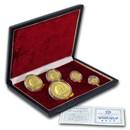 1987 China 5-Coin Gold Panda Proof Set (w/Box & COA)