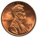 1987-D Lincoln Cent BU (Red)