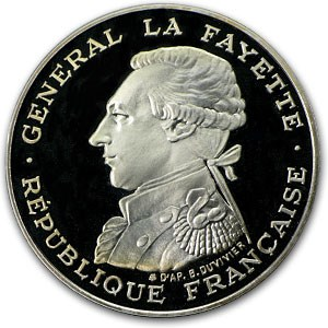 1987 France Silver 100 Francs Gen. Lafayette Proof (ASW .4581)