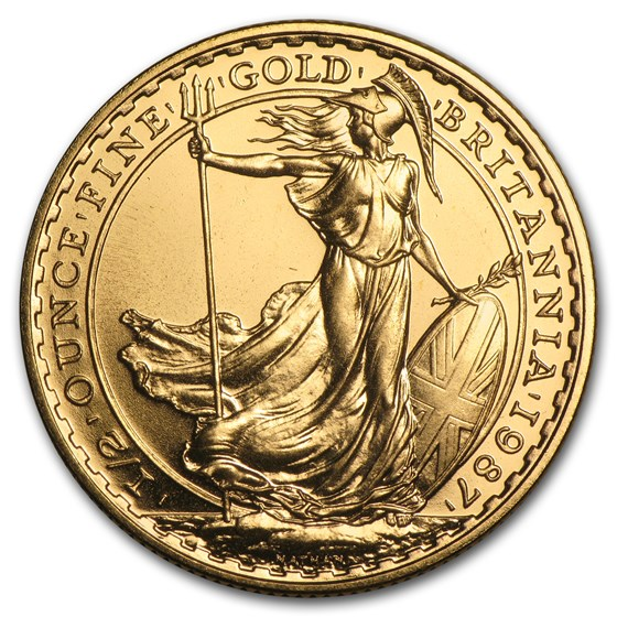 1987 Great Britain 1/2 oz Gold Britannia BU