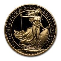 1987 Great Britain 1/4 oz Proof Gold Britannia