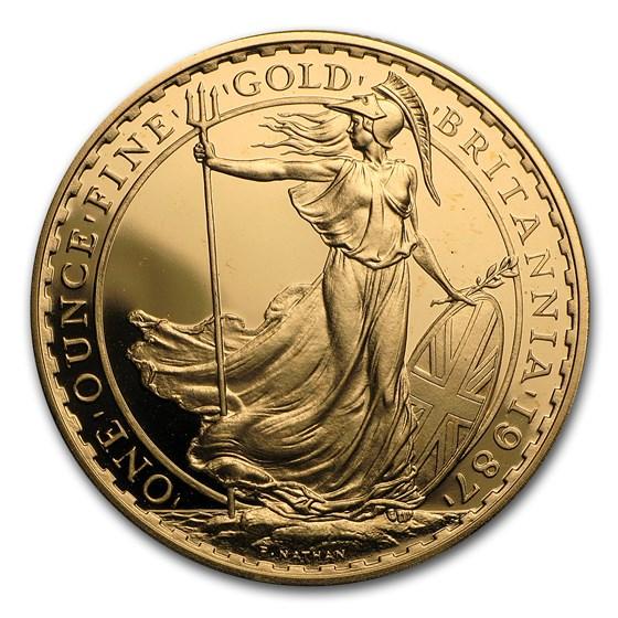 1987 Great Britain 1 oz Gold Britannia Proof