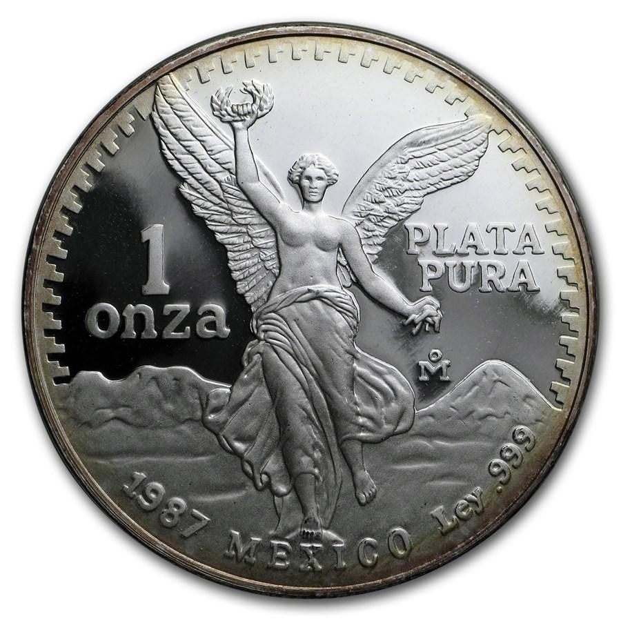1987 Mexico 1 oz Silver Libertad Proof (In Capsule)