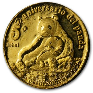 1987 Mexico Gold North American Panda 5th Birthday Proof