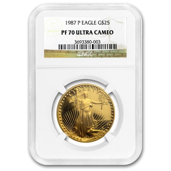 1987-P 1/2 oz Proof American Gold Eagle PF-70 NGC