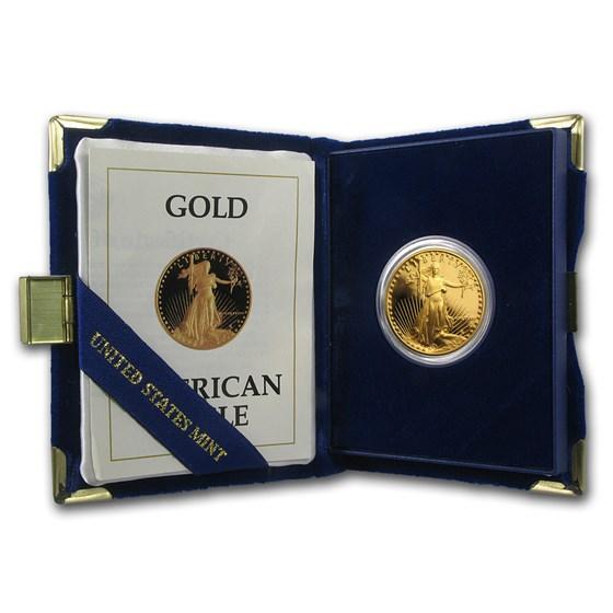 1987-P 1/2 oz Proof American Gold Eagle (w/Box & COA)