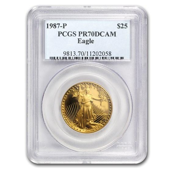 1987-P 1/2 oz Proof Gold American Eagle PR-70 PCGS