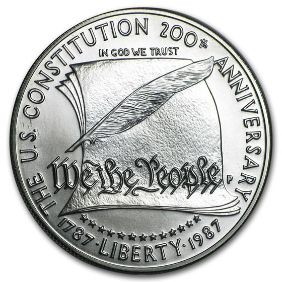 1987-P Constitution $1 Silver Commem BU (Capsule Only)