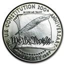 1987-P Constitution $1 Silver Commem BU (w/Box & COA)