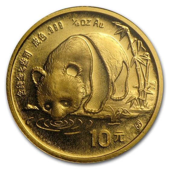 1987-S China 1/10 oz Gold Panda BU (Sealed)