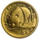 1987-S China 1/20 oz Gold Panda BU (Sealed)